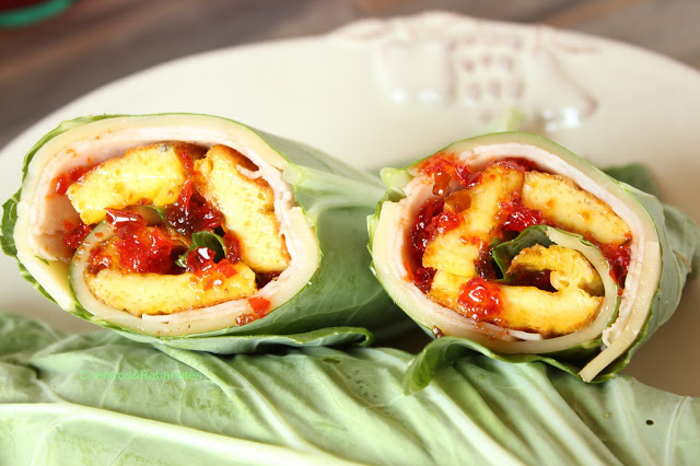 Wraps de couve com ovos de galinhas felizes | Kale wraps with happy chicken eggs
