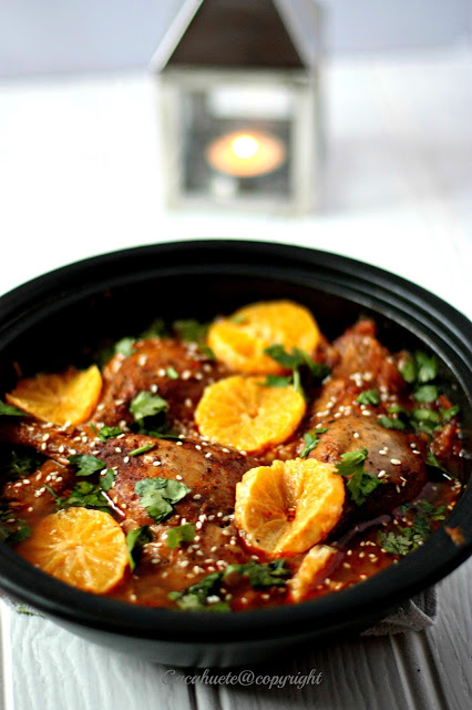 Tagine de pato com clementinas/Duck tagine with clementines