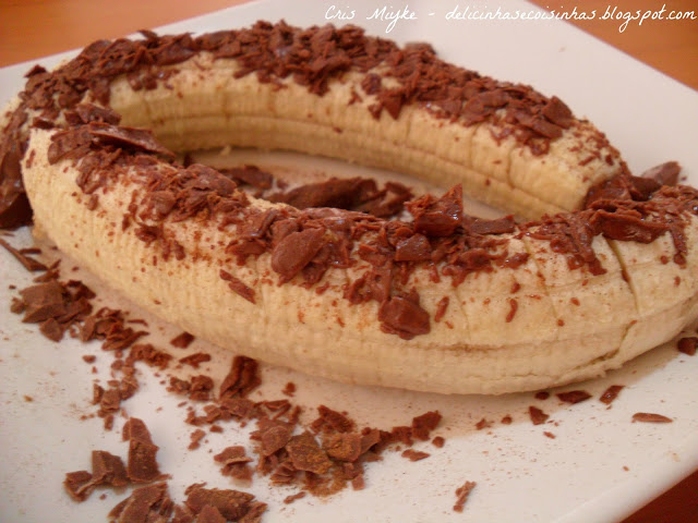Banana com Chocolate e Canela