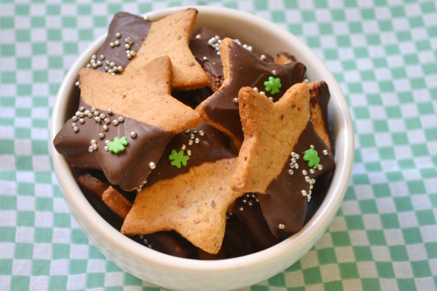 Biscoito de amendoim com chocolate