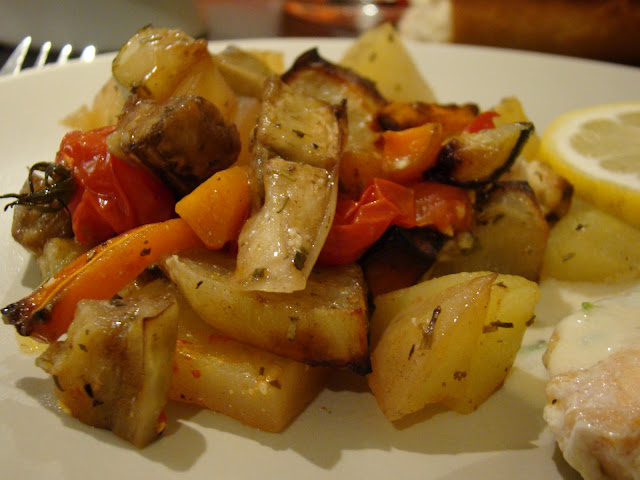 Legumes Assados no Forno com Ervas Aromáticas / Roasted Vegetables with Aromatic Herbs