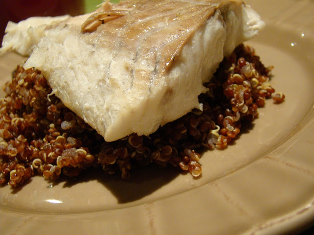 Escamudo Preto Grelhado com Quinoa Vermelha / Grilled Black Saithe with Red Quinoa