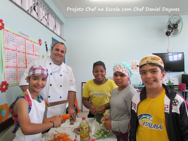Chef na Escola - Mini Chef - Yakissoba de Churrasco.