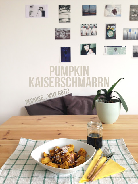 it's freaking snowing on my brunch. { gluten-free pumpkin kaiserschmarrn }