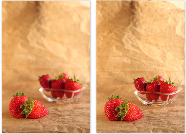 Aperture and DOF – foodphotography exercise