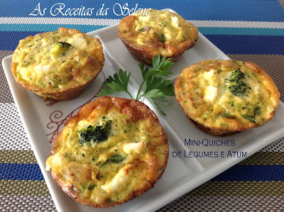 Mini-Quiches de Legumes e Atum