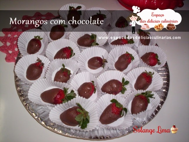 Morangos com chocolate