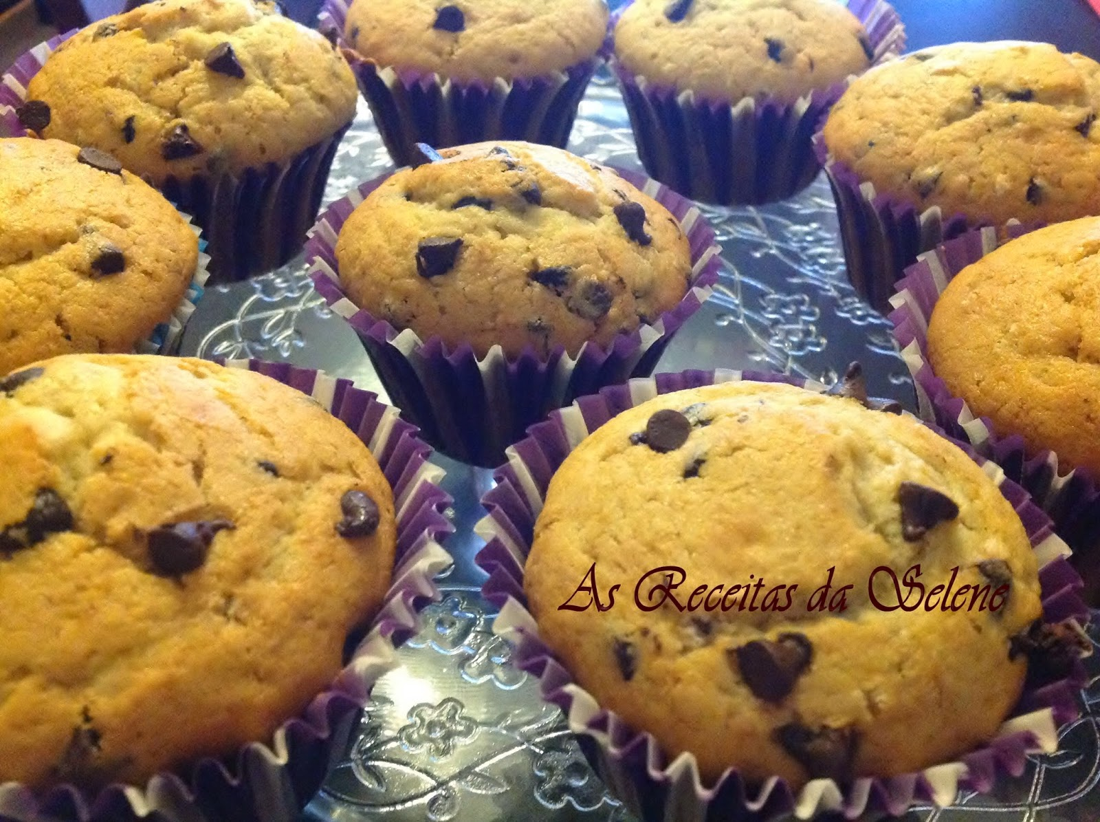Muffins com Pepitas de Chocolate
