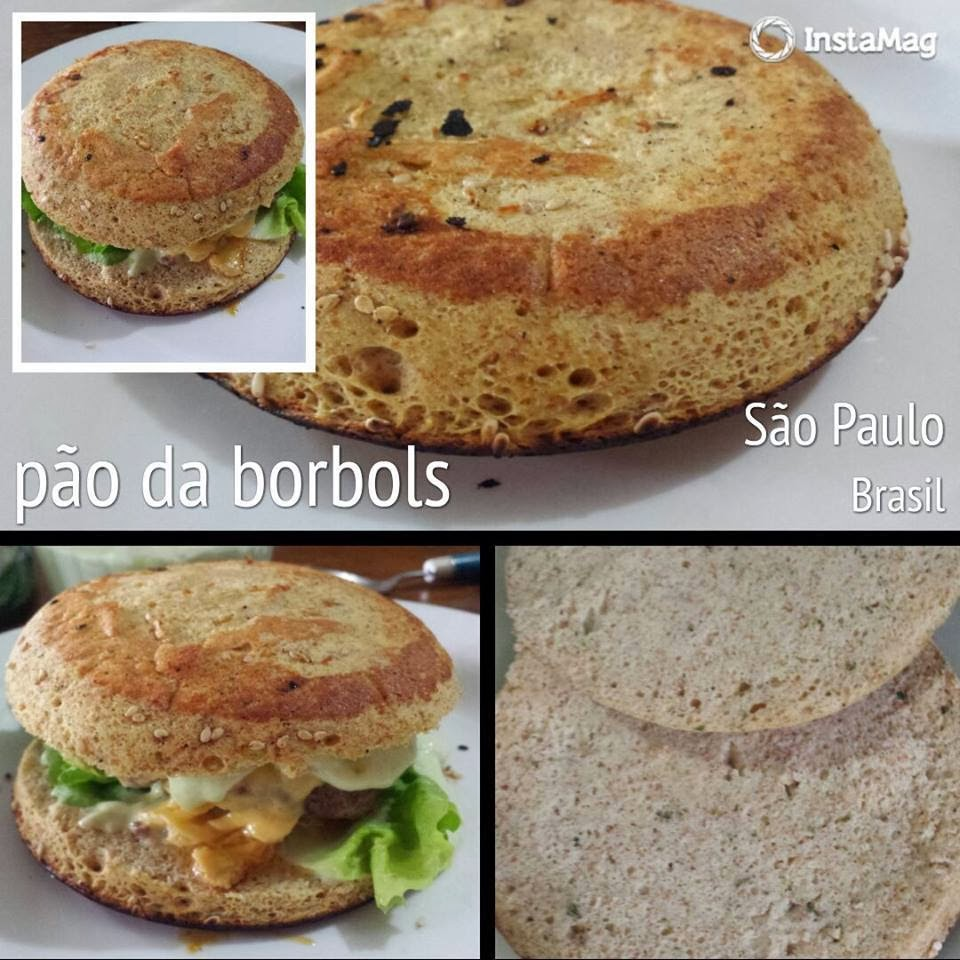 Pão de Hambúrguer Low Carb High Fat de microondas