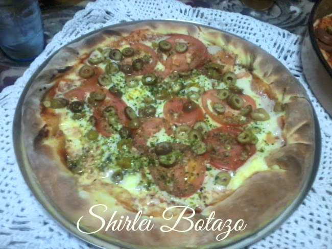 Eu testei receita do blog: Shirlei Botazo, Pizza