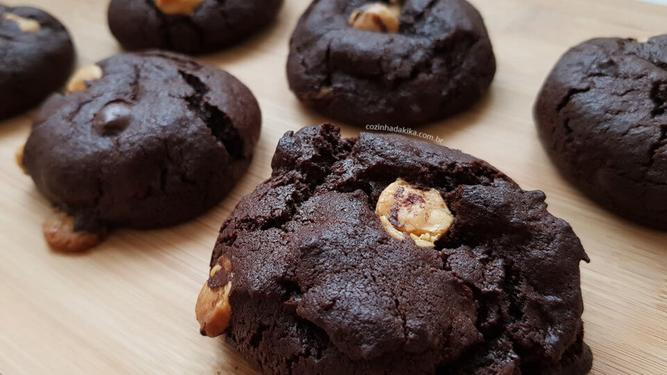 Receita de triple chocolate cookies