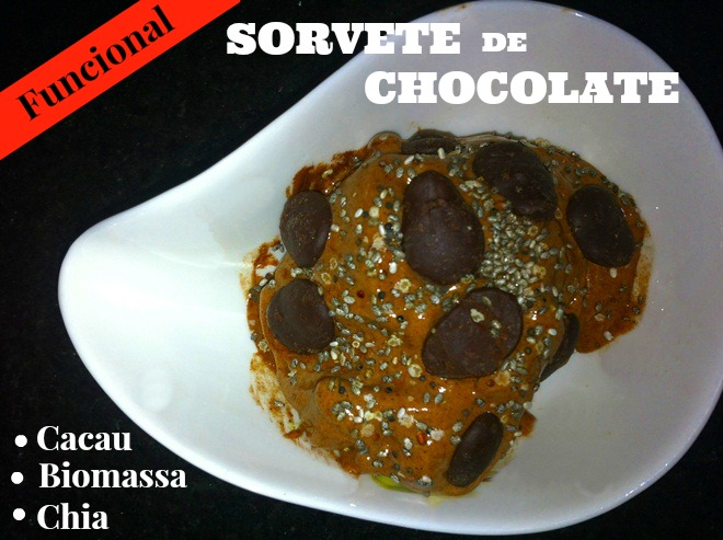 Sorvete Funcional de Chocolate