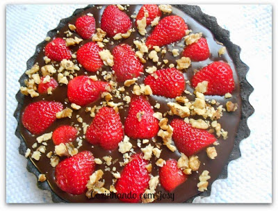 Tarte de Morangos - Strawberry Chocolat Tart