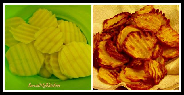 Carne assada com batatas fritas na Airfryer