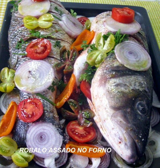 ROBALO ASSADO NO FORNO